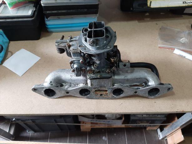 Colector com carburador duplo Ford crossflow Escort Capri Cortina