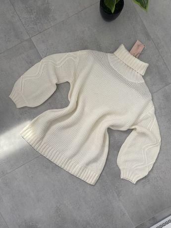 Kremowy sweter missguided S nowy z metka