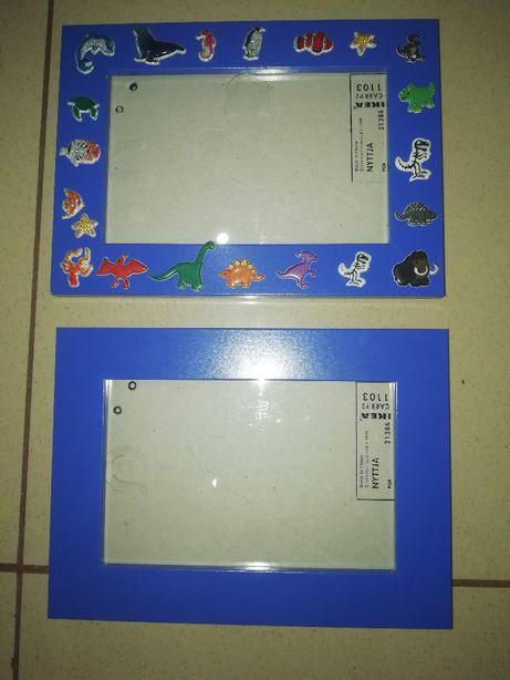 2 molduras azuis