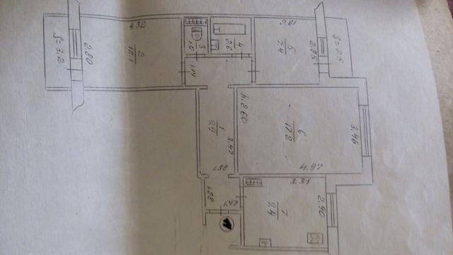 Продам 3-комнатную, 9мкр.