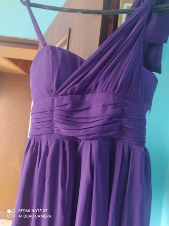 Długa fioletowa sukienka