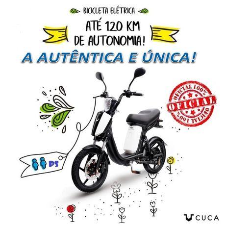 Bicicleta elétrica citadina para via pública, CUCA Bike de 2 lugares