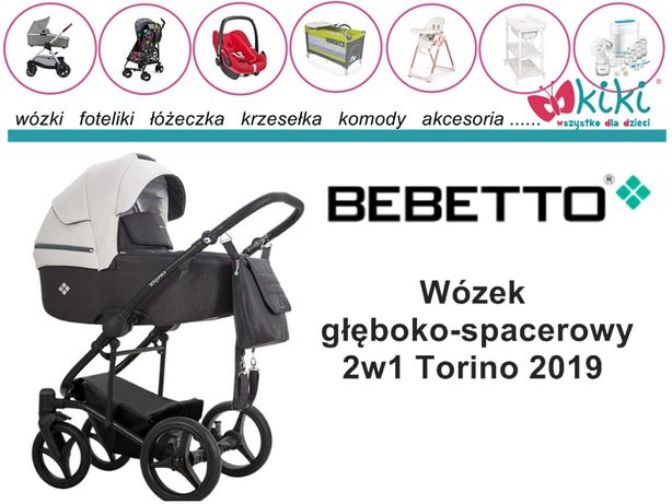 Wózek głęboko spacerowy Bebetto Torino 2019 2w1