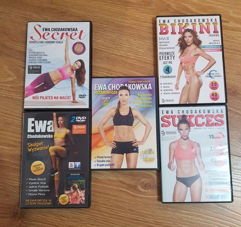 Ewa Chodakowska DVD, sukces, secret, bikini, skalpel inne zestaw