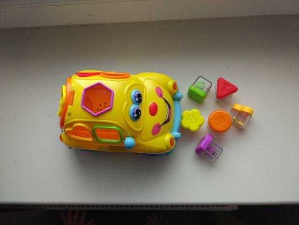 Машинка сортер автошка интерактивная игрушка фруктовая машина