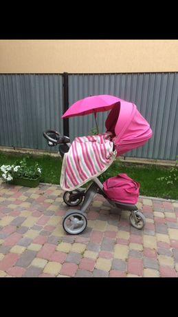 Stokke Xplory 2в1 limited edition pink melange