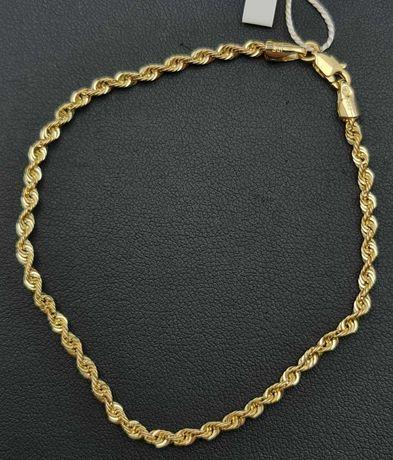 Złota bransoletka KORDEL p585 1,44g 19cm LOM95