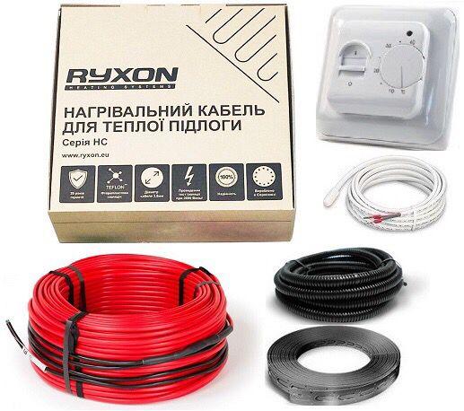 Комплект! 2м2 Греющий кабель Ryxon Латвия Электрический теплый пол