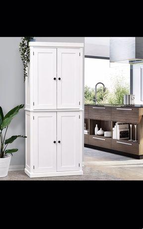 Szafka wysoka szafka komoda 6 poziomów regulowana półka kuchen