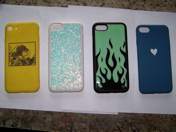 case 3 szt do iphone 7-8 plus gratissss cena za komplet płomienie-brak