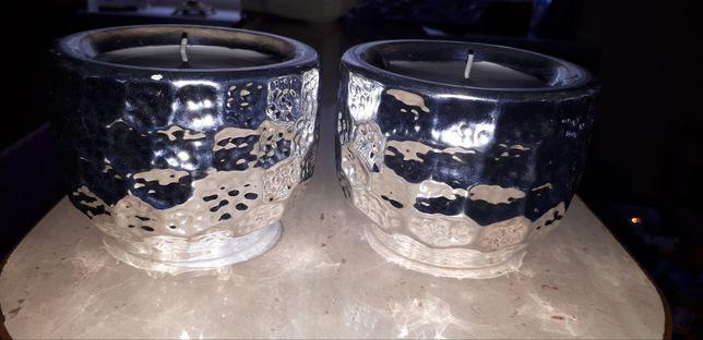 Nowe srebrne świeczniki