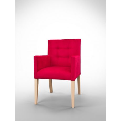 Fotel nowoczesny z pikowanym oparciem