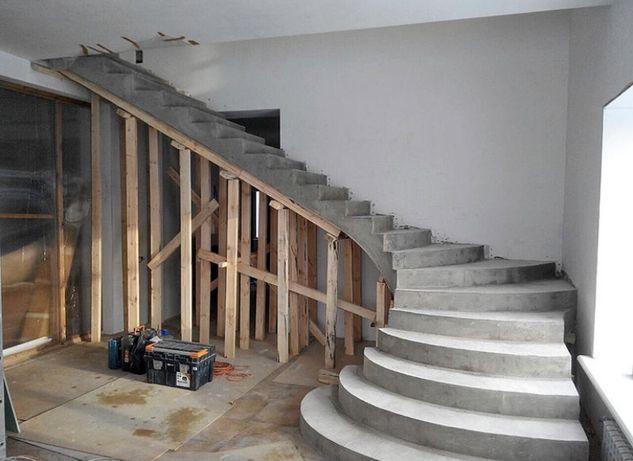 Сходи бетонні лестница обшивка сходів