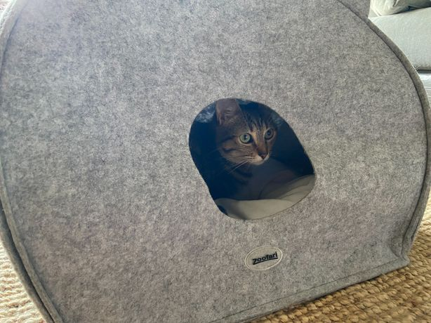 Caminha iglo de gato com almofada