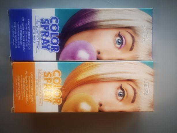 Kolorowe spray'a do włosów
