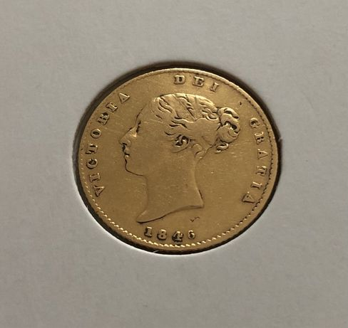 Meia libra de ouro 1846 brasão