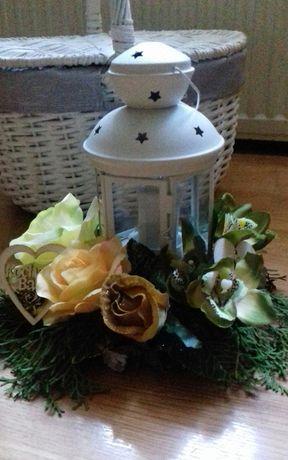 dekoracja na grób, latarenka rękodzieło dzień babci, dziadka