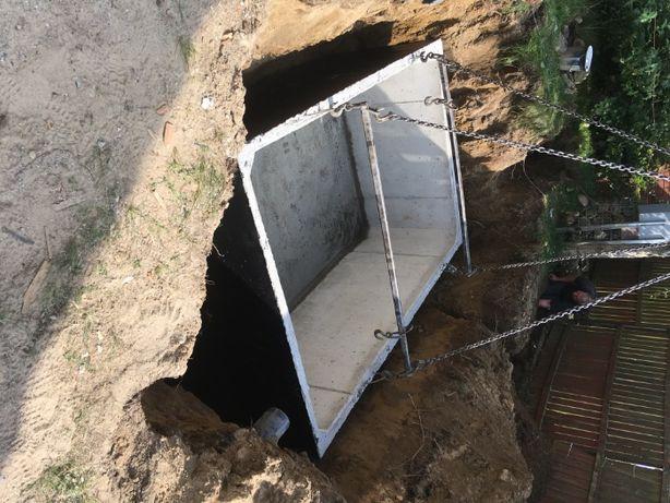 Betonowy zbiornik na wodę deszczową/deszczówkę/szambo