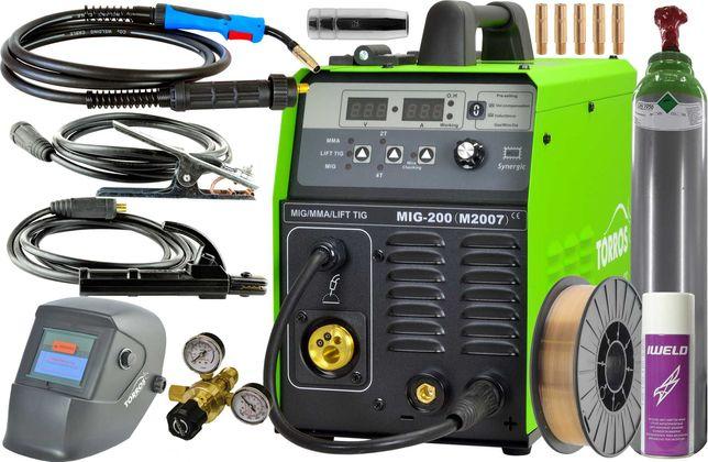 Spawarka migomat Torros MIG200 Synergia 3w1 M2007 zesaw z pełną bulą