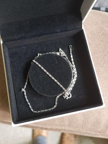 Srebrny łańcuszek splot ślimaczek