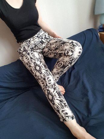 spodnie haremki alladynki zwiewne na lato 38 M 36 S hippie boho retro