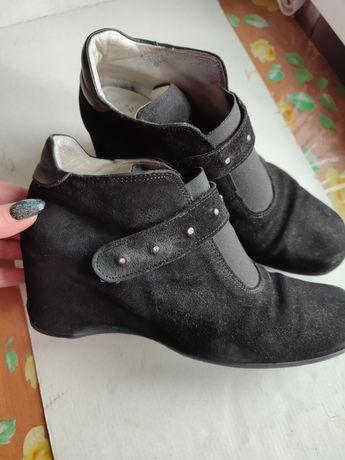 Женские ботинки из натуральной замши 40размер