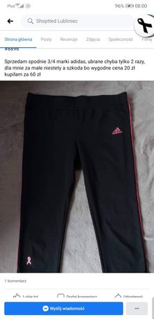Spodnie 3/4 adidas