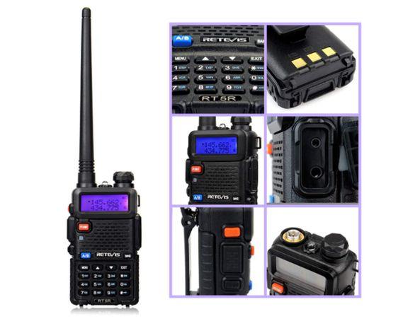 Rádio RT5R Walkie Talkie profissional 5 watts vhf / uhf - LONG RANGE