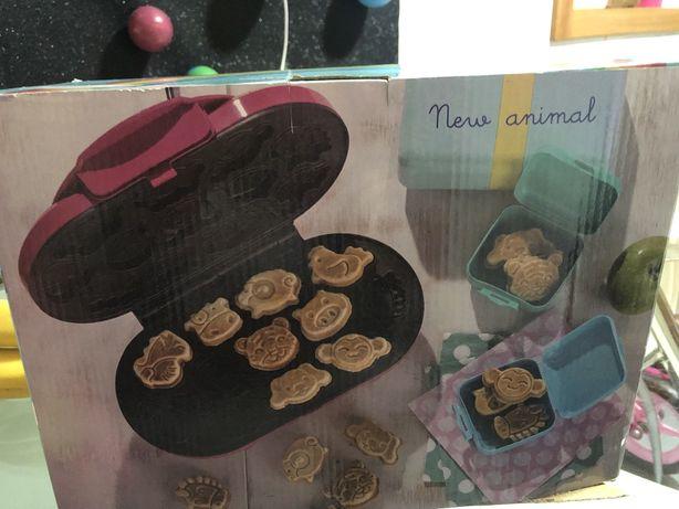 Maquina de wafles com formas de animais