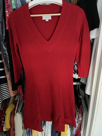 Vestido de malha vermelho springfield