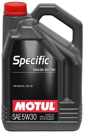Моторное масло Motul SAE 5W30 5L Допуск 504 00/507 00