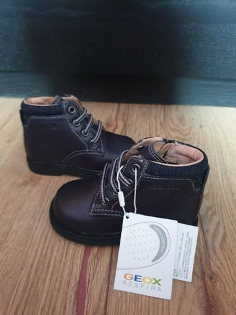 Новые! Детские ботинки Geox Respira (Италия)! Натур.кожа! р.20/12,8 см