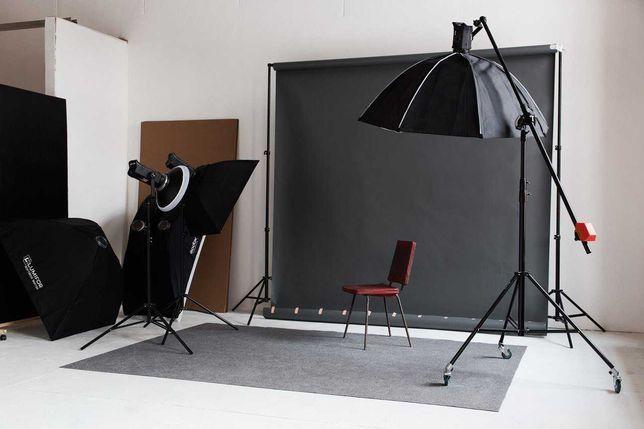 Чорний фон (фотофон) вініл 1,5х2 м матовий, студийный виниловый фон