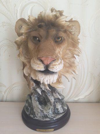Декор для дома ручной работы лев из кости