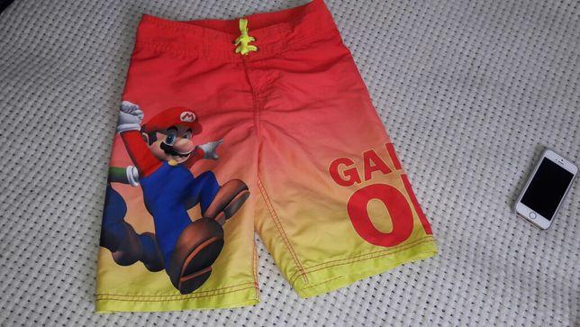 Фирменные шорты для плавания плавательные Марио H&M размер 134 140 146