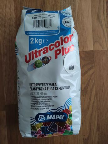 Fuga Mapei Ultracolor Plus 2kg, kolor 100 biały