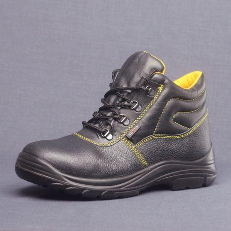 Ботинки МУЖСКИ КОЖАНЫЕ сапоги рабочие прочные Обувь зимняя теплая