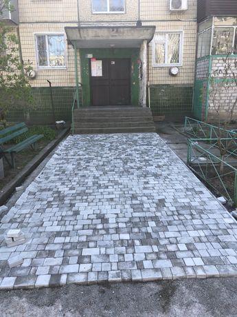 Тротуарна плитка, бетонные и землянные работы