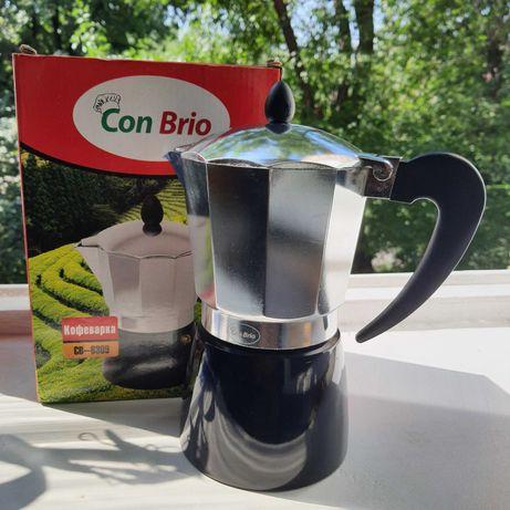 Гейзерная кофеварка Con Brio CB-6309 450 мл 9 порций