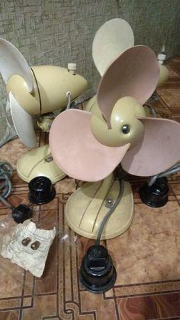 Вентиляторы настольные новые литые раритетные с мягкими лопастями 2шт