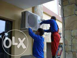 Установка кондиционеров, тепловых насосов, чистка, заправка фреоном,ТО