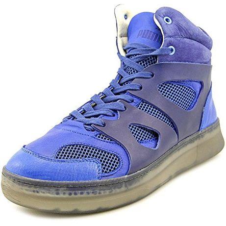 Ботинки Puma MCQ Move Mid Alexander McQueen Blue Leather. Оригинал. 44