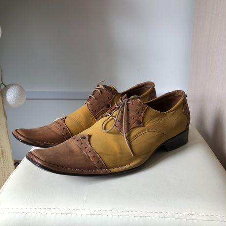 skórzane buty męskie | eleganckie | polskie | Man Fahion | 44 | skóra