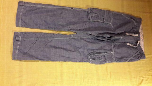 spodnie h&m z regulacją długości, nowe