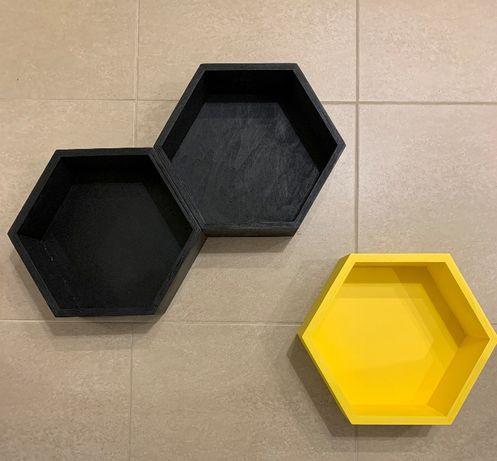 Plastry miodu / Półki / Heksagon