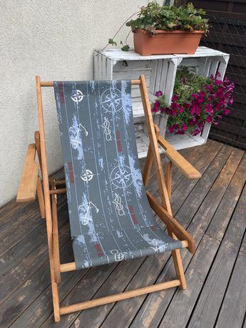 Leżak drewniany (3 poziomy regulacji oparcia)