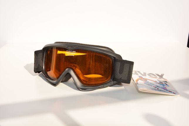 Gogle narciarskie UVEX z etui NOWE