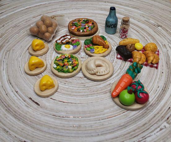 Maileg myszka jedzenie, miniatury akcesoria serek potrawy