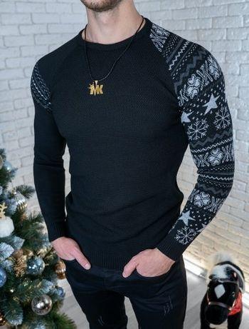 Кофта один рукав узор лонгслив свитер шерстяной светр вовна