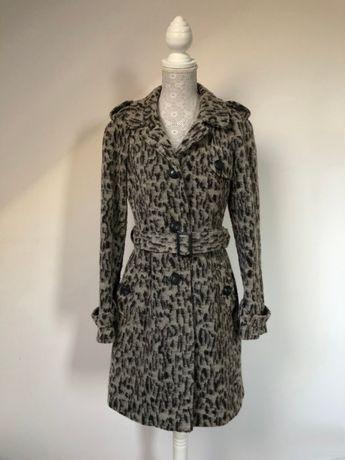 Płaszcz klasyczny wełniany pagony panterka pantera Next 36 S zimowy
